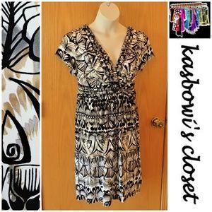Figure Flattering Ruched Knit Dress PLUS